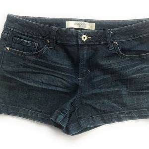 Charlotte Russe 12 denim short blue studs